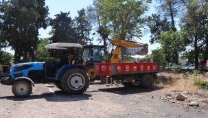 Urfa'da Kentsel dönüşüm için ağaçlar naklediliyor