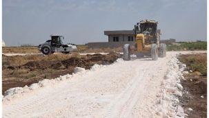 Viranşehir Hürriyet mahallesinde stabilize yol çalışması