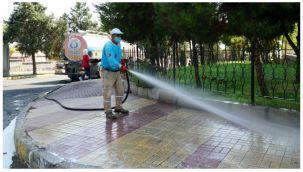 Haliliye Belediyesi'nden sokak sokak dezenfekte çalışması
