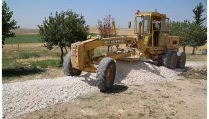Haliliye kırsalında yollar hizmete sunuluyor