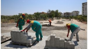 Karaköprü Atakent'te hummalı çalışma