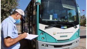 Şanlıurfa Büyükşehir toplu taşıma araçlarını denetledi