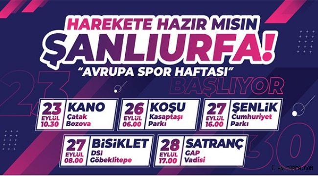 Şanlıurfa'da Avrupa Spor Haftası Başlıyor