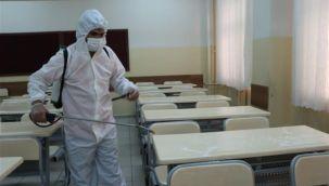 Urfa'da Sınav öncesi okullar dezenfekte ediliyor
