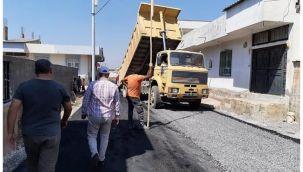 Viranşehir Hürriyet Mahallesinde Asfaltlama Çalışması