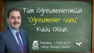 Başkan Canpolat 24 Kasım öğretmenler gününü kutladı