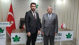 Gelecek Partisi Viranşehir İlçe Başkanı Ahmet Koç oldu