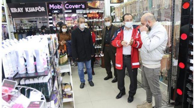 Sağlık Müdürü Erkuş maske denetiminde!