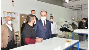 Vali Erin OSB'deki fabrikaları ziyaret etti