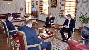 Başkan Fatma Şahin, Başkan Çakmak'ı ziyaret etti