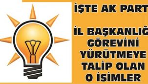 İşte AK Parti Şanlıurfa İl Başkanlığı için ismi geçen adaylar