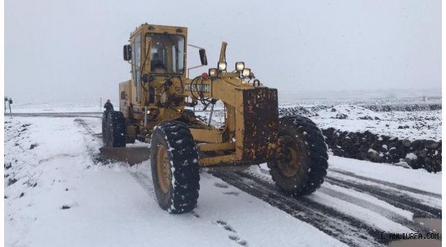 Şanlıurfa Büyükşehir, 120 araç 220 personelle karla mücadele ediyor