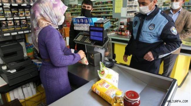 Haliliye'de zabıta marketleri denetledi