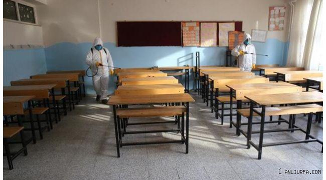 Haliliye kırsalındaki okullar dezenfekte ediliyor