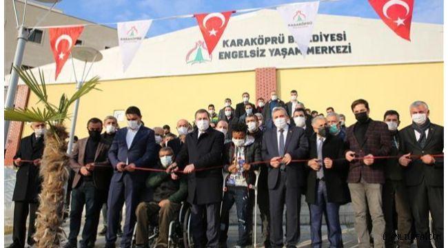 Karaköprü'de engelleri kaldıran merkez hizmete açıldı