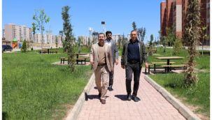 Başkan Baydilli Seyrantepe'dek yeni parkı inceledi