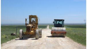 Hilvan kırsalında yol yapım çalışmaları tamamlandı