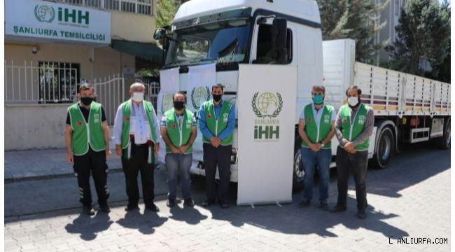Şanlıurfa'dan İdlib'e insani yardım tırı gönderildi