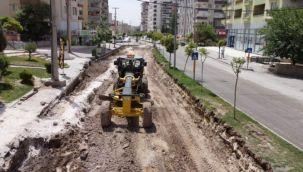 Urfa Büyükşehir'den çöken yolda sil baştan düzenleme